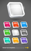 3d colour icons set eps10 — Stock Vector