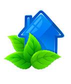 Symbole de la maison écologique — Vecteur