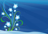 First spring flowers lighting bells — Stock Vector
