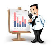 Businessman with chart — Stock Vector