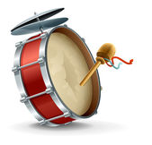 Bass drum instrument — Stockvector