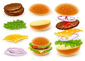 Hamburger with cheese — Stock Vector