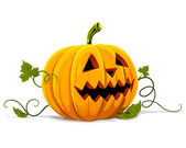 Vector halloween pumpkin vegetable fruit isolated — Vector de stock
