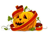 Vector halloween pumpkin vegetable fruit isolated — Stockvector