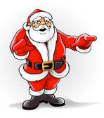 Vector Santa Claus singing Christmas song — Stock Vector