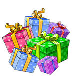 Vector holiday gift presents isolated — Stockvektor