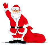 Christmas santa grandfather — Stock Vector