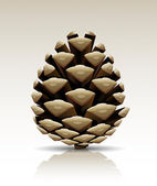 Vector pine cone isolated — Stok Vektör
