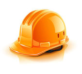 Orange helmet for builder worker — Stock Vector