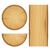 Vector wood material parts — Stock Vector