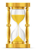 Gold sand glass clock — Stock Vector