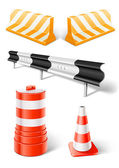 Working objects for road repair or construction — Stock Vector