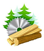 Icon for woodworking industry — Stock Vector