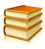 Groupe des livres papier avec couvercle — Vecteur