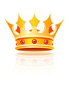 Gold royal crown — Stock Vector