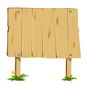 Wooden blank board — Stock Vector