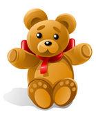 Vector little bear toy gift — Stock Vector