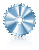 Blade circular saw for cutting wood — Stock Vector