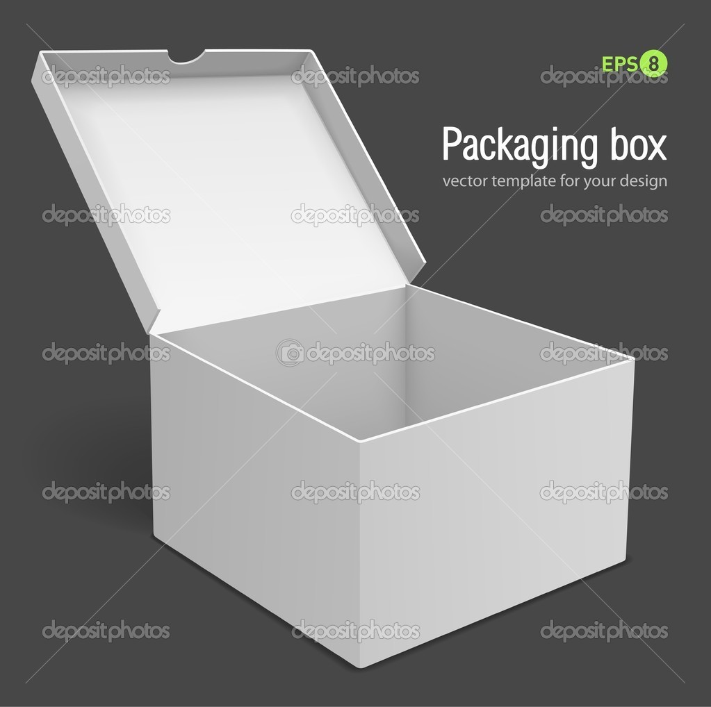 Open packing box vector illustration isolated on grey background  Stock Vector #5781767