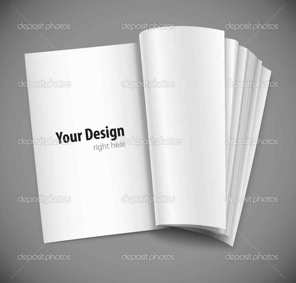 Magazine page with design layout vector illustration on gray background — Stock Vector #5781850