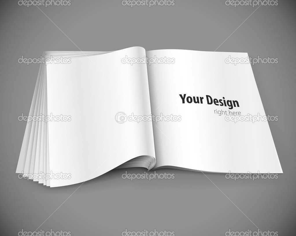 Magazine page with design layout vector illustration on gray background — Stock Vector #5781854
