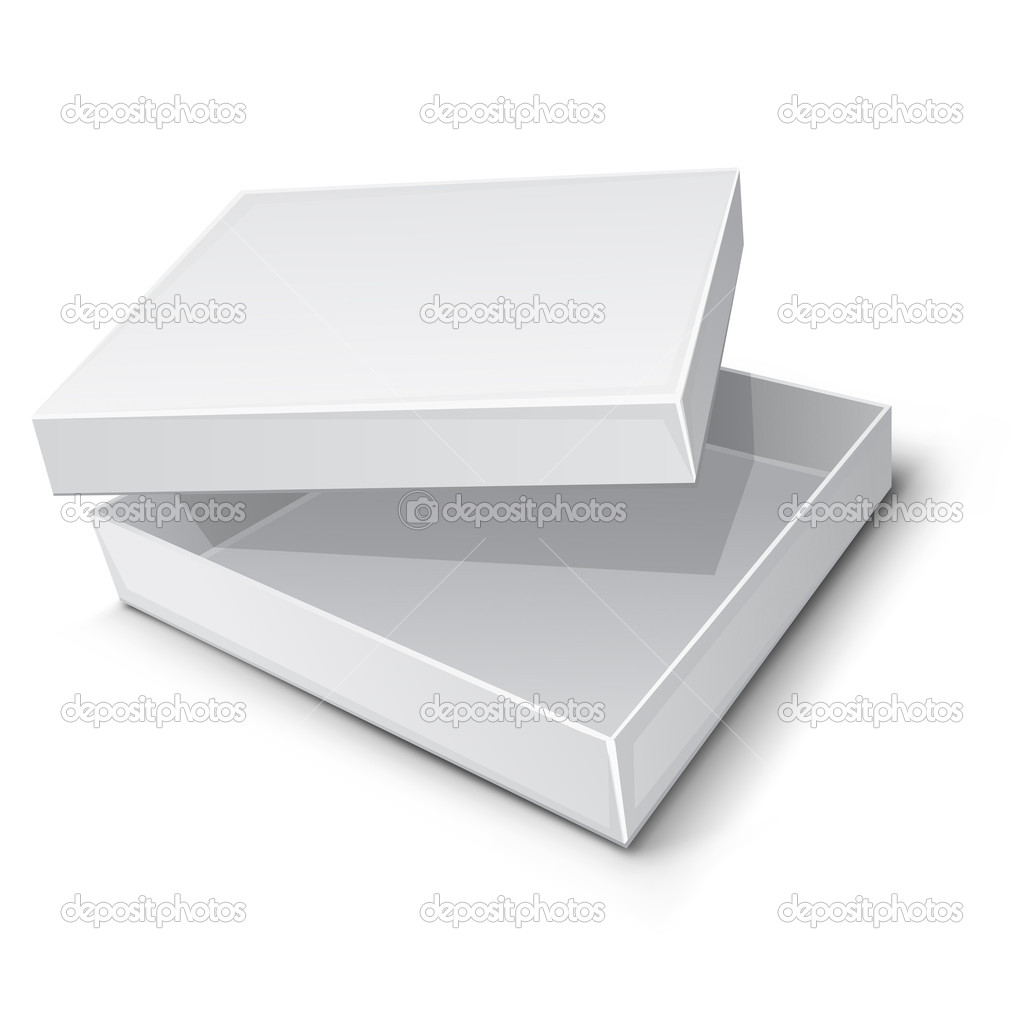 Empty paper box vector illustration isolated on white background — Stock vektor #5782054