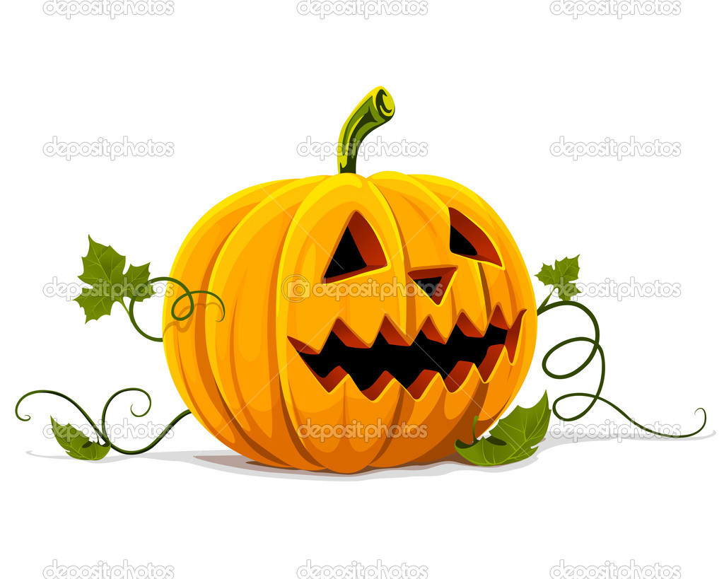 Vector halloween pumpkin vegetable fruit isolated on white background — Imagens vectoriais em stock #5782357