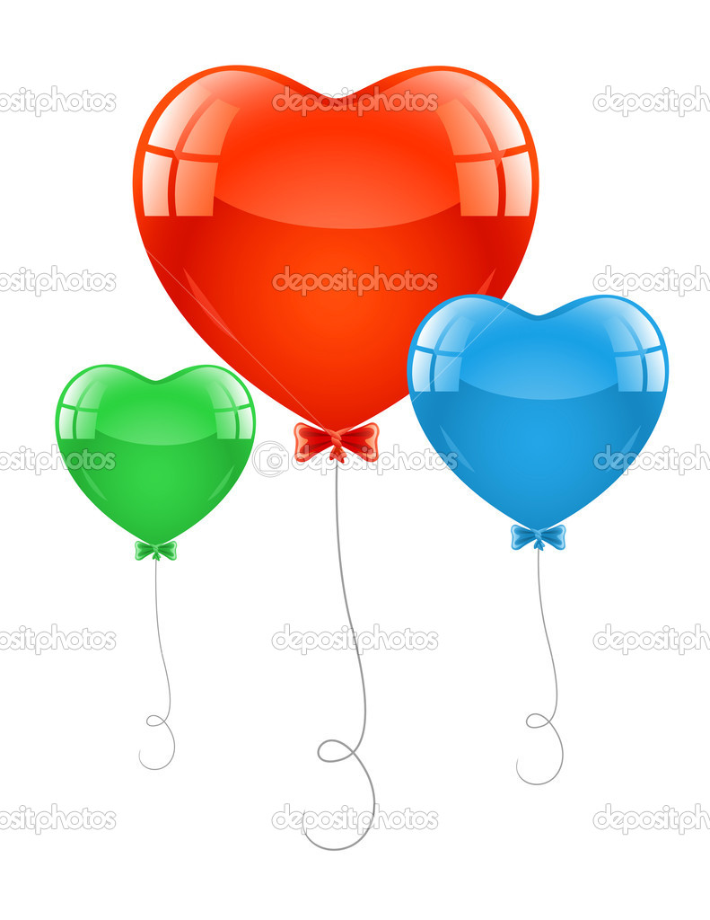 Air baloons in form of heart — Stock Vector © Iurii Lupol #