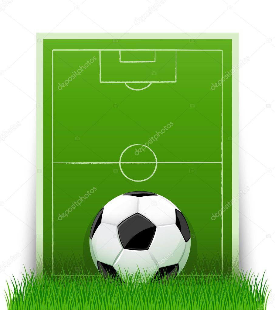Рисунок футболистов на футбольном поле