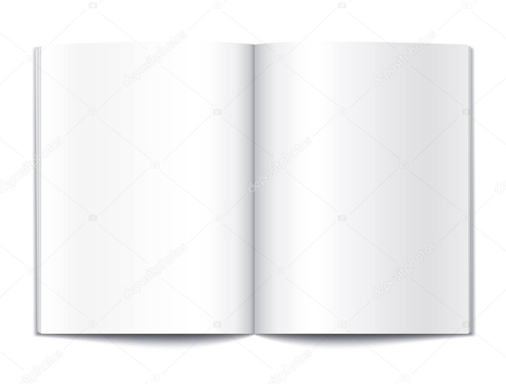 Blank magazine or note book pages design template vector illustration — Stock Vector #5784927