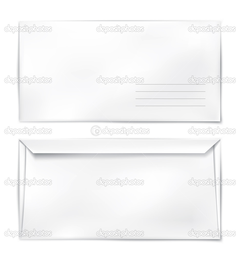 Blank paper mail konvert template vector illustration — Stockvektor #5784942