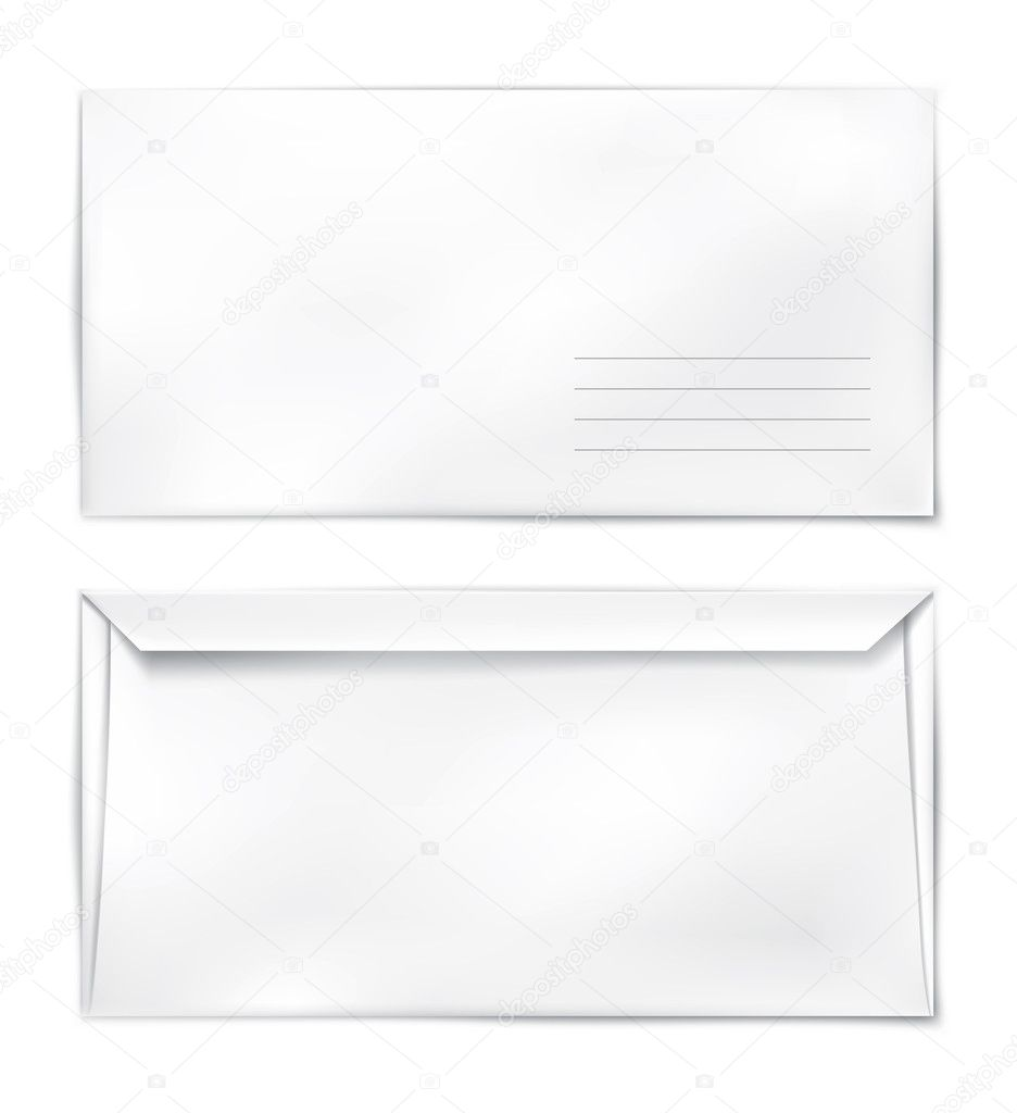 Blank paper mail konvert template vector illustration — Grafika wektorowa #5784942