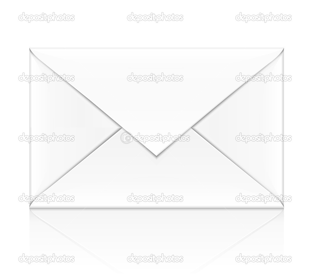 Blank white envelope isolated on white background - vector illustration — Stock Vector #5786293
