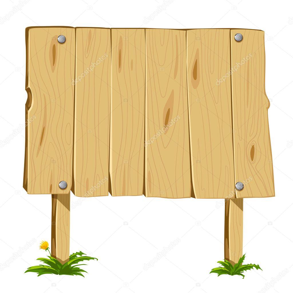 Blank Wooden Sign Board Wooden Blank Board Vector