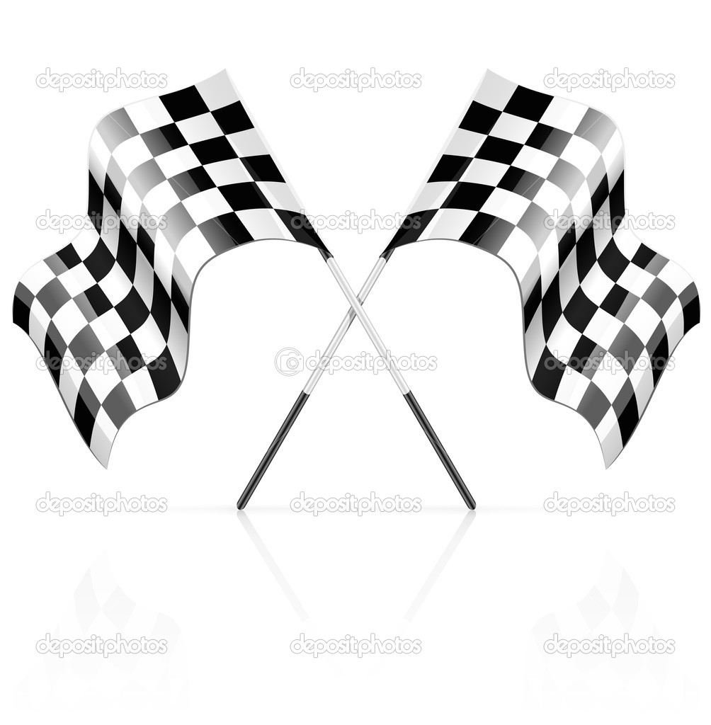 Racing sport competition start and finish symbol - vector illustration — Stock Vector #5788581