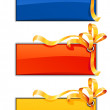 Tree banners with gold ribbon — Stockvectorbeeld