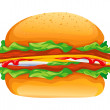 Hamburger rasterized vector illustration — Stock Vector