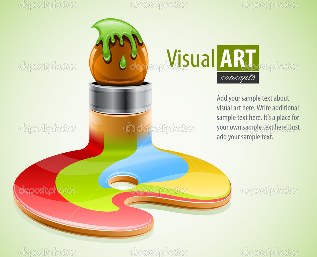 Paint brush as symbol of visual art vector illustration  Stock Vector #5906412