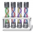 Set of capsules with DNA molecules - Stock Photo