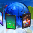 Global tablet PC boom concept — Stock Photo #5418706