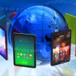 Stock Photo: Global tablet PC boom concept