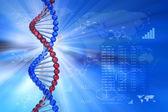 Conceito científico de engenharia genética — Foto Stock