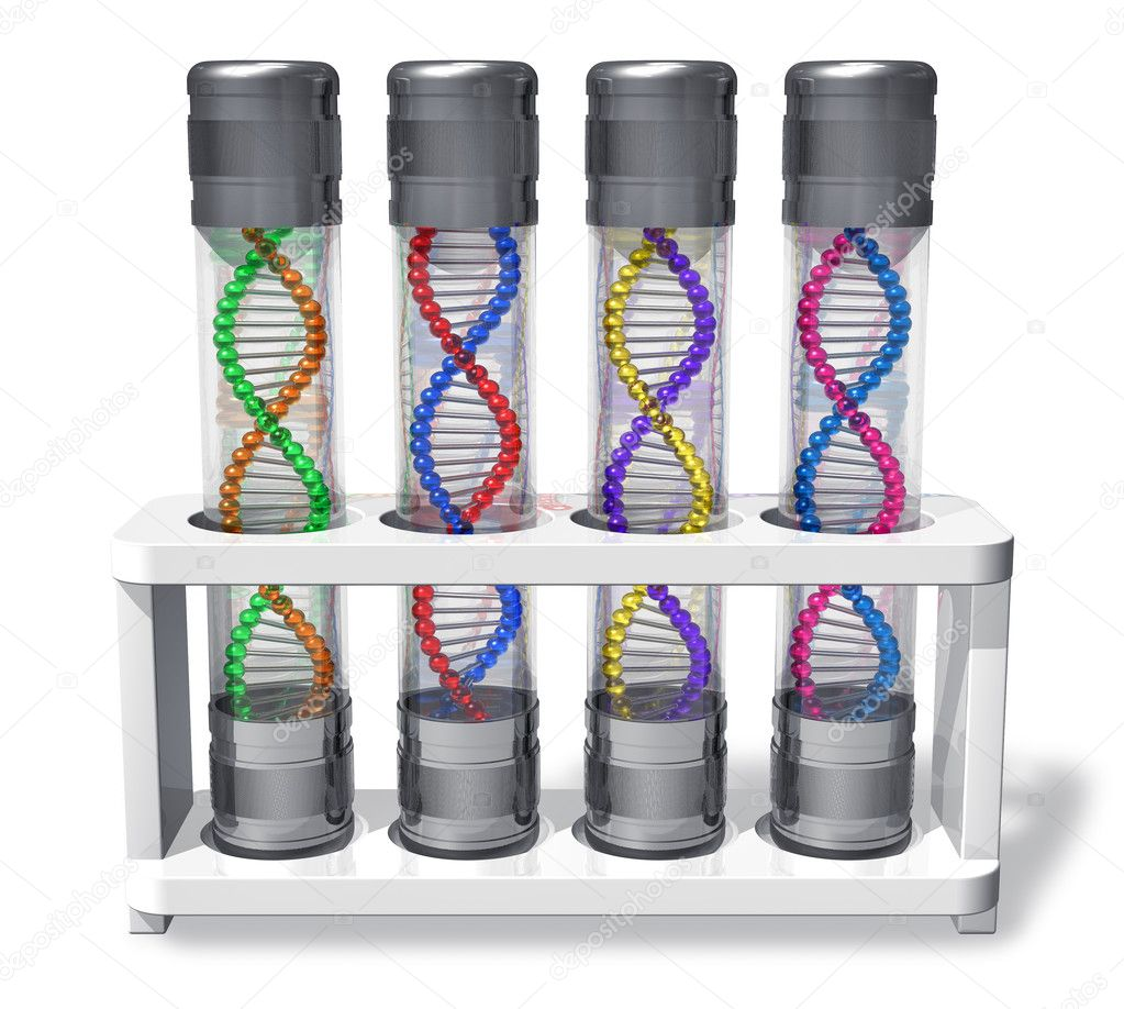 Set of capsules with DNA molecules  Stock Photo #5418699
