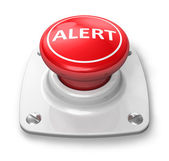 Red alert button — Stock Photo