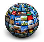 Picture globe — Stock Photo