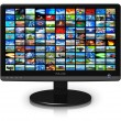 LCD display with picture gallery - Stockfoto
