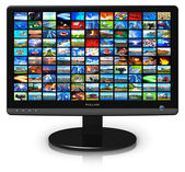 LCD display with picture gallery — Stock Photo