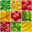Fresh fruits and vegetables collage — Stock Photo #5475234