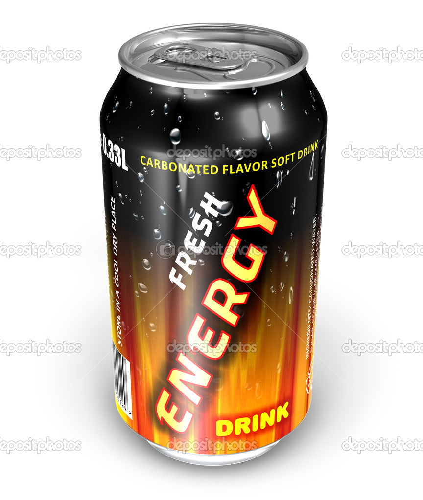Energy drink in metal can — Stock Photo #5525966