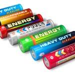 Set of AA batteries — Stock Photo